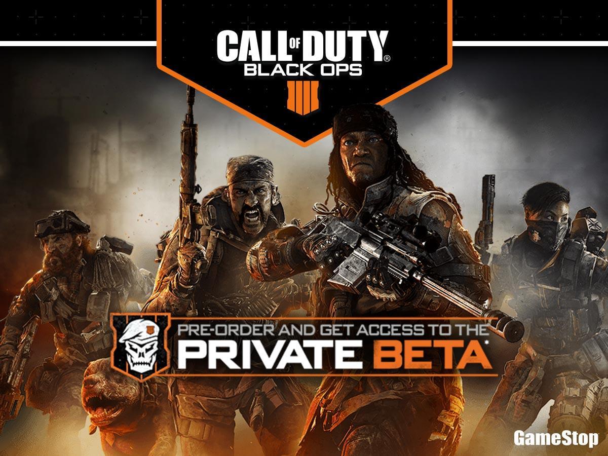gamestop black ops 4 beta code email