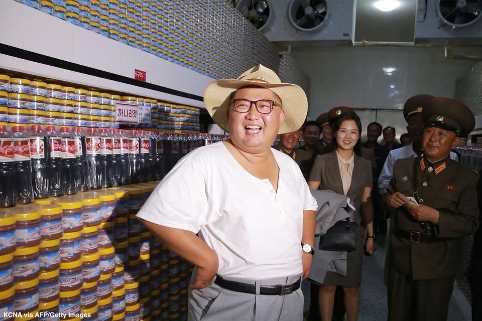 God Emperor Trump's photo on Kim Jong-Un