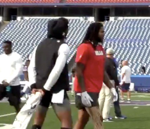 Kelvin Benjamin had a lot to say on Twitter and to the media, but when Cam stepped to him he wanted no parts of it. Keep that same energy  http:// bit.ly/2Mh1u9a  &nbsp;  <br>http://pic.twitter.com/aPLK1AwjaZ