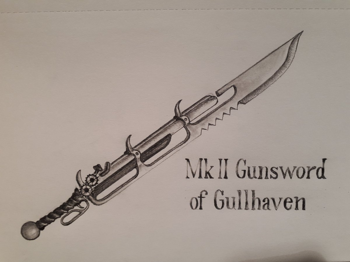 Took a break from what i #amwriting to #draw some concepts for my soon to be published #steampunk #Novel The Strangled Hubris. Context: the soldiers hunting my fugitive protagonist wield and are known as #Gunswords @MontagPress @AirshipEmbassy @Steampunk_T @storypunks<br>http://pic.twitter.com/OzlSj3fHqf