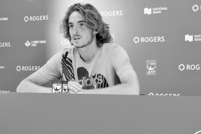 Had some fun with this shot of 19 year old Stefanos Tsitsipas in post-match press. On his win today vs Novak Djokovic, It was a very emotional mean, I never felt so many emotions after a victory. Lots more victories coming if he continues to play this way. #RogersCup Photo