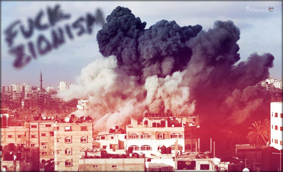 È possibile bruciare le nostre moschee, le nostre case, le nostre scuole, ma il nostro spirito non potrà mai morire..#Gaza #GazaUnderAttack  - Ukustom