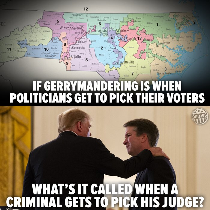 We the People are not allowed to choose the judges who sit on our cases. Neither should the President be allowed to do so. Judge Kavanaugh must not be confirmed! #StopKavanaugh  #NoToKavanaugh #TW<br>http://pic.twitter.com/IXn38TvESc