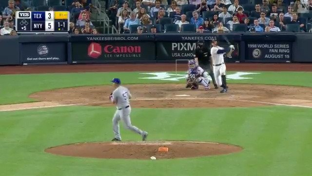 121.7 mph?! ����  @Giancarlo818 drills the hardest-hit HR ever tracked by @Statcast. https://t.co/6atViVDmN1
