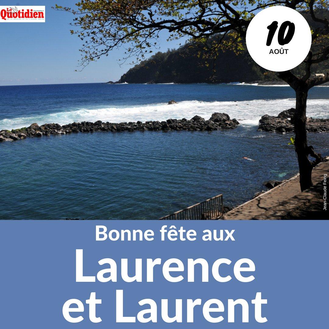 Carte Bonne Fete Laurent.Le Quotidien On Twitter Bonne Fete Laurence Et Laurent