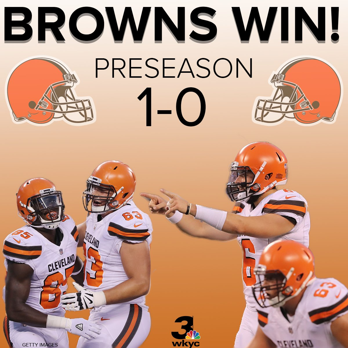 #Browns earn 20-10 win over #Giants in preseason opener at #MetLifeStadium #3Browns @wkyc https://t.co/smVeKVPItY