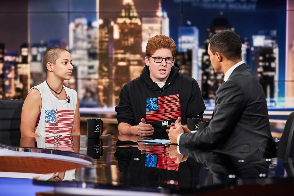 TONIGHT: @AMarch4OurLives activists @Emma4Change & @MattxRed are here to talk about their #RoadToChange tour.