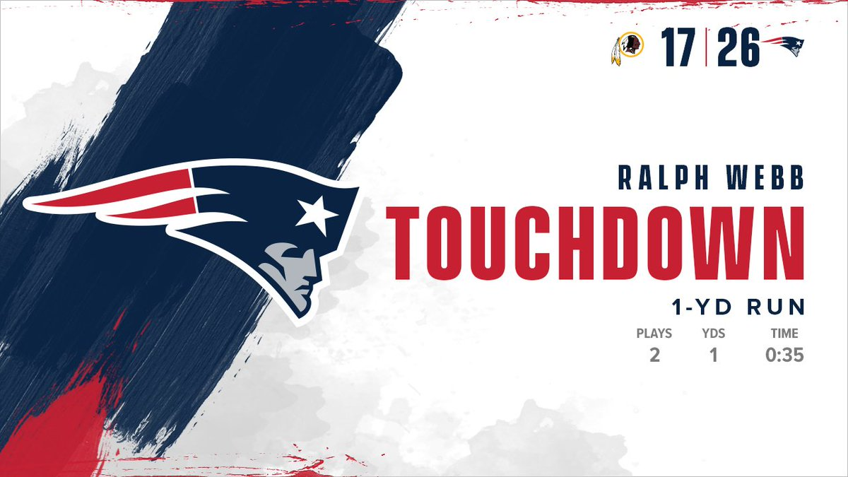 Another TD run, another two-point conversion for @TurnUpWebb. #WASvsNE <br>http://pic.twitter.com/rFltdKx6nB