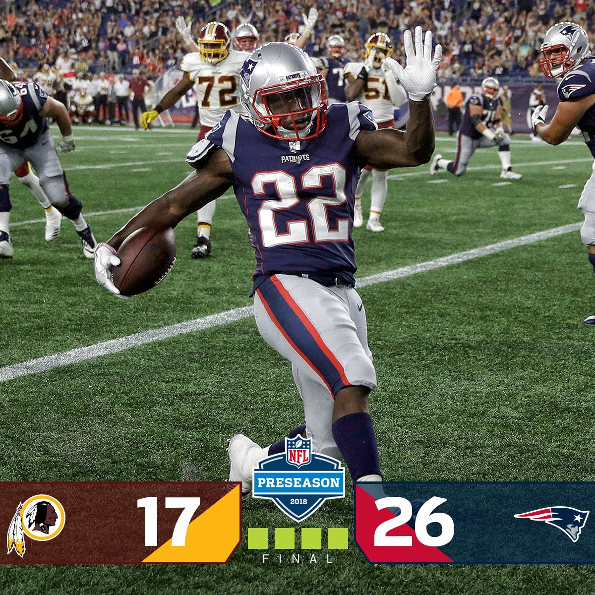 FINAL: @Patriots WIN! #WASvsNE <br>http://pic.twitter.com/6iykGLhtMF