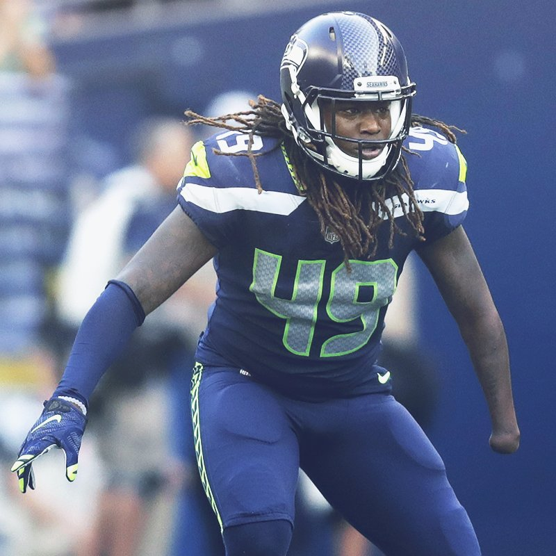 Tied for the team-high in tackles (5), @Shaquemgriffin.  #INDvsSEA<br>http://pic.twitter.com/7fVRqaaiqE