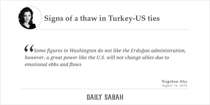 Signs of a thaw in Turkey-US ties - by Nagehan Alçı @Nagehanalci | DS Column Photo