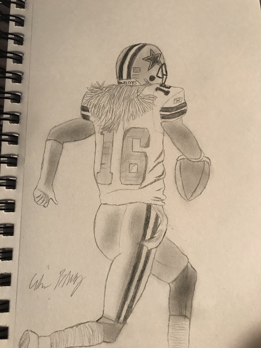 Football is finally back! So i done a sketch of one of my all time favorite cowboy players @Mr4thAndLong and one of my favorite plays (not to mention it was vs 49ers ). <br>http://pic.twitter.com/RtignNr733