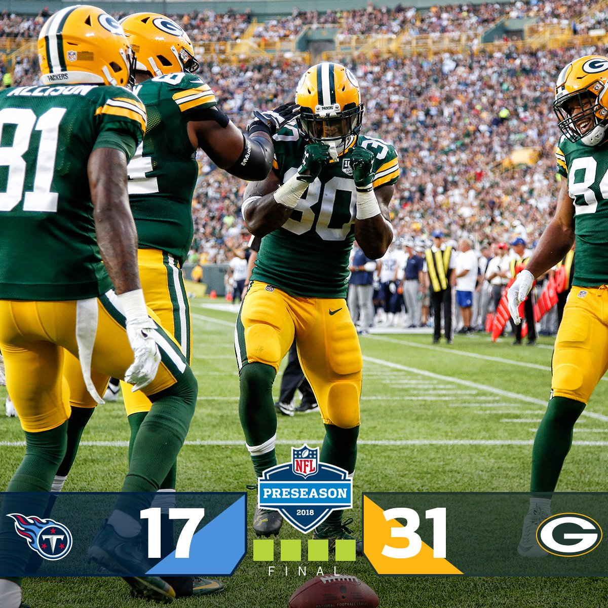 FINAL: @packers start off the preseason with a WIN! #TENvsGB <br>http://pic.twitter.com/KSOBdlLQHM