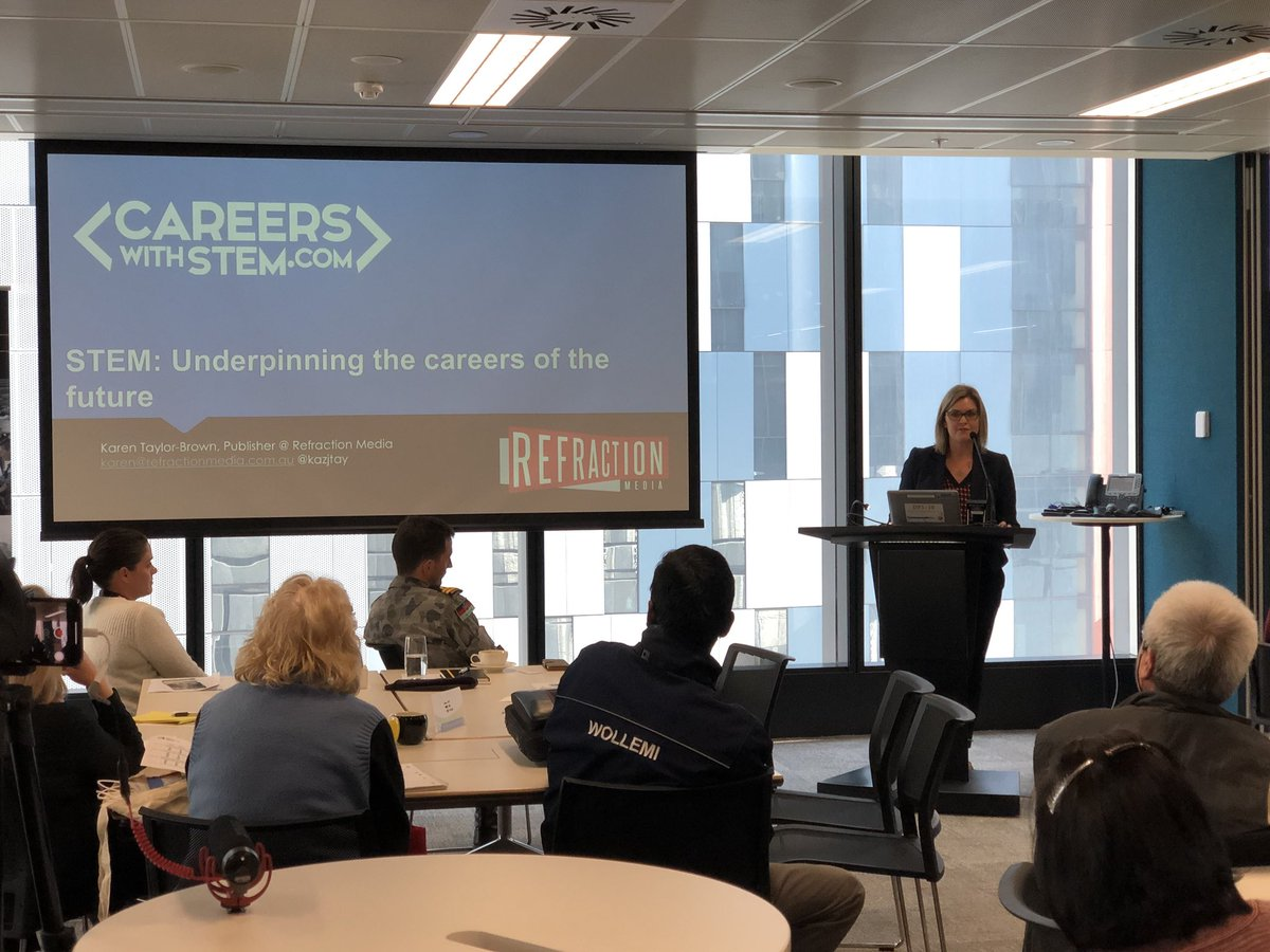 test Twitter Media - Our media partner @RefractionAus speaking at the #ACSSeminars in Sydney - they have generously donated their Careers with STEM, Code, Maths and Engineering magazines across all seminars 😍 https://t.co/llA9F39ucT
