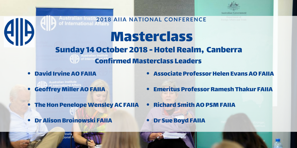 Have you applied for an #AIIA18 Masterclasses yet? Apply now to attend a session with a pair of these leading experts! Deadline for applications is 9 September, apply here now! bit.ly/2M3HGmE @NewColomboPlan @dfat