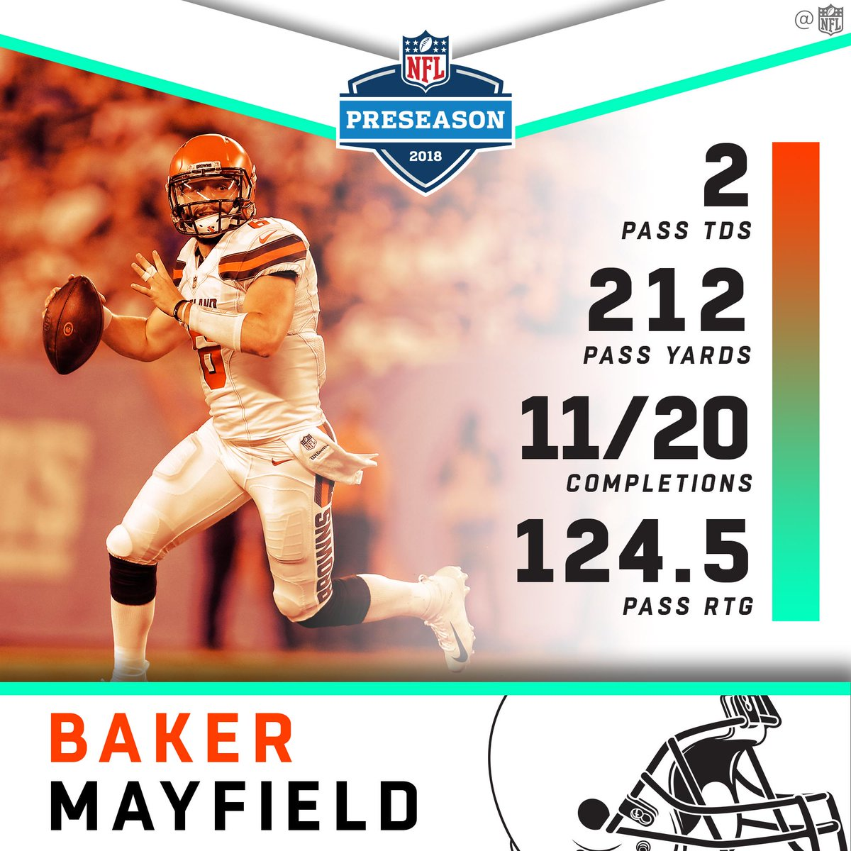 .@bakermayfield put on a show in his preseason debut! #CLEvsNYG <br>http://pic.twitter.com/NQWbpO5zWz