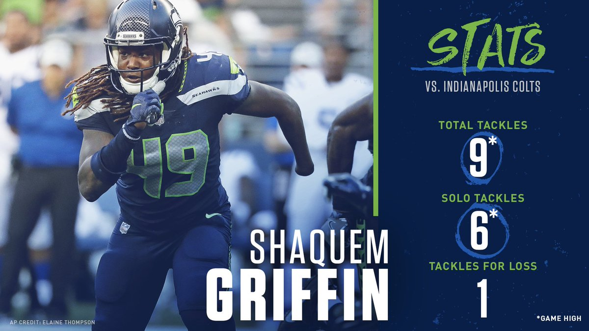In his Seahawks debut, @Shaquemgriffin made his presence felt.  <br>http://pic.twitter.com/575yWlvDAs