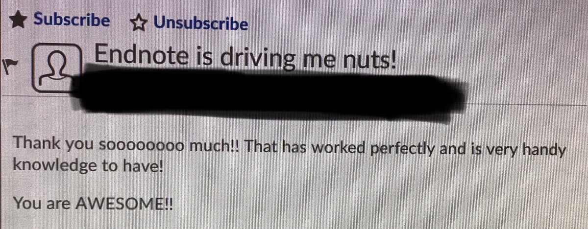 When your #research informs your #teaching - saving students from being driven nuts by Endnote!  #ECRchat @DeakinNutrition<br>http://pic.twitter.com/13t3xecbQB