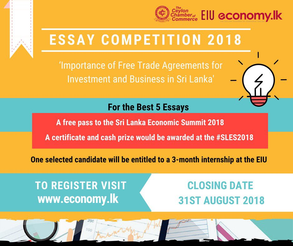 economic essay competition Economics and financial economics course essay obtain such privileges one day with strong passion for mathematics, i studied hard to pass the entrance exam to my secondary school which is reputable for math education and achieved some high prizes (including three first prizes) in mathematics competition.