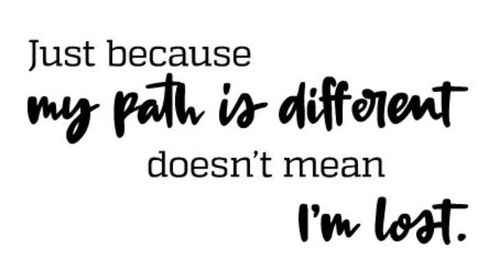 Acho On Twitter Just Because My Path Is Different Doesnt Mean I