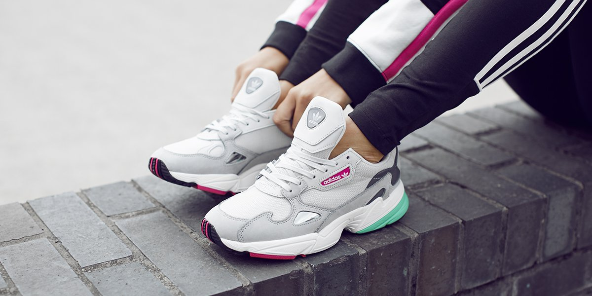 No words except 😍😍😍 The ult' off duty sneak for all the boss babes out there, say 👋 to the @adidasoriginals 'Falcon' 💖   Make 'em yours RN. 👇 https://t.co/w7Gly5KL7l