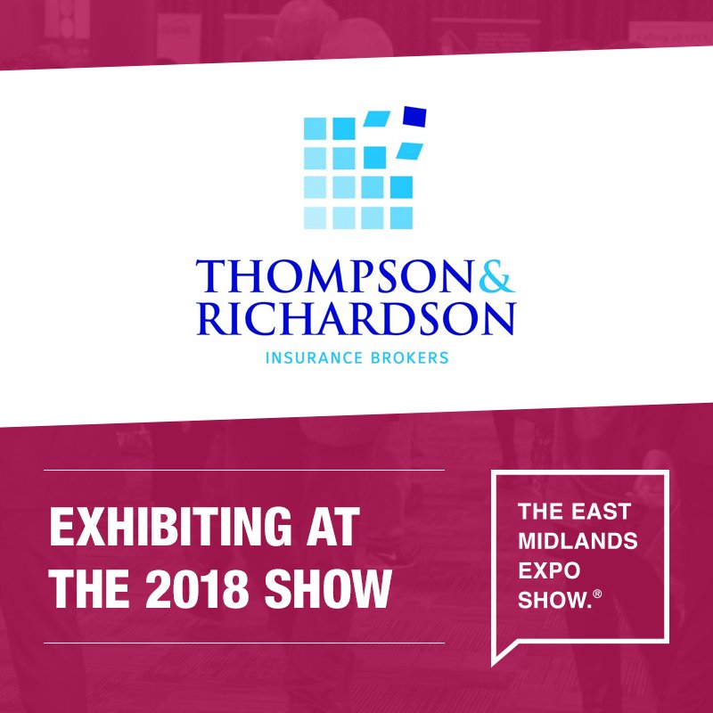 We look forward to seeing Thompson &amp; Richardson, Lincolnshire's leading insurance broker, at the East Midlands Expo on the 5th November!  http:// bit.ly/2NLDxoE  &nbsp;    Register your place today:  http:// bit.ly/2Ieklji  &nbsp;    #EastMidsHeadsUp <br>http://pic.twitter.com/9FYrvQDqel