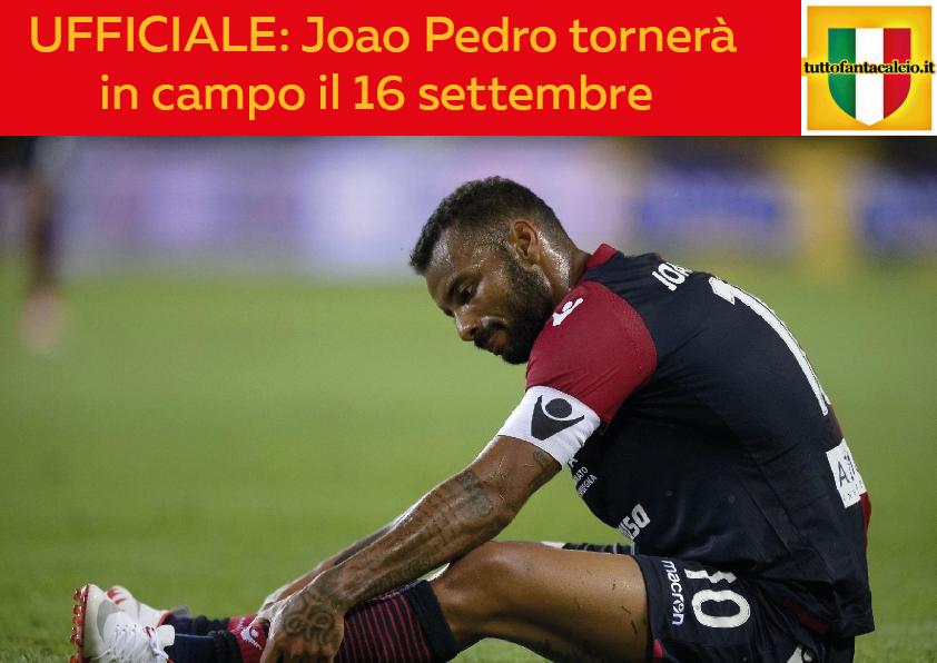 UFFICIALE: Joao Pedro tornerà in campo il 16 settembre. Punterete su di lui?#joaopedro #cagliari #news  - Ukustom