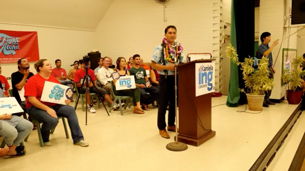 &quot;Aloha doesn&#39;t mean acquiescing to the institutions that wanna profit from our suffering. Aloha means ensuring interdependence, and empathy, and love, and understanding, and diversity. We are reclaiming that word. Aloha is not for sale. We will #FightForAloha.&quot;—@KanielaIng<br>http://pic.twitter.com/4ZGAPaLyNj