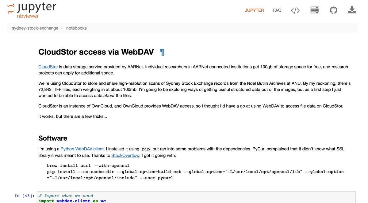 Webdav storage