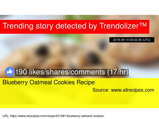 Blueberry Oatmeal Cookies Recipe https://t.co/RA3FGeByCr https://t.co/xD9txSfLKJ