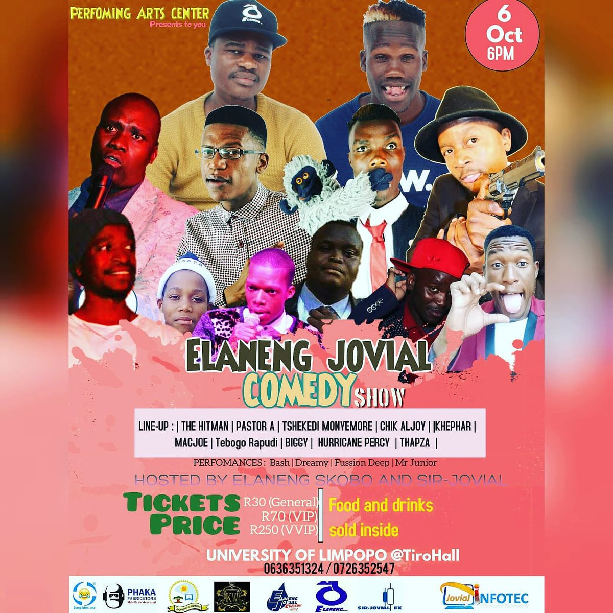 Let&#39;s meet at University of Limpopo Tiro hall on the 6th October  @sir_jovial_fx  #GainWithTrevor #TrapaDrive #ThingsAreMovingSlowly #DanielDrive #MzanziFolloTrain #TheQueenMzanzi #PresenterSearchOn3 #Uzalo #AskAMan #LadiesWithBooty #ImbizaKaZulu #SouthAfrica #SkeemSaam #IdolsSA <br>http://pic.twitter.com/1tCNgQSCU8