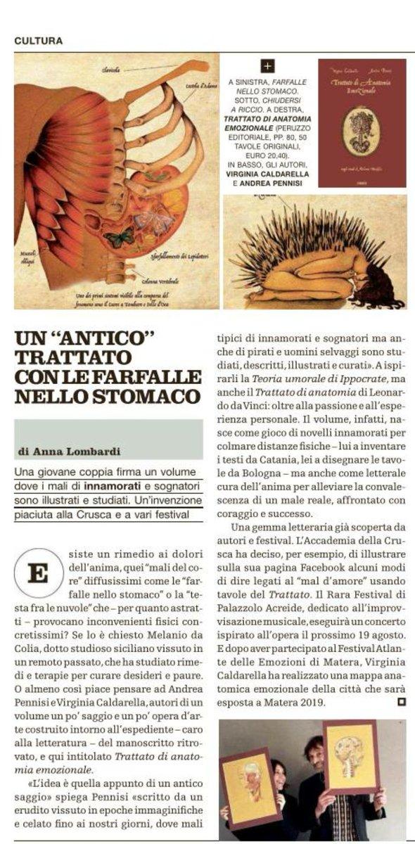"""Intrigante il  """"Trattato di anatomia emozionale""""Leggete il pezzo di @anna_lombardi su #Venerdì @repubblica #10Agosto  https://twitter.com/CasaLettori/status/1027821592628355072 - Ukustom"""