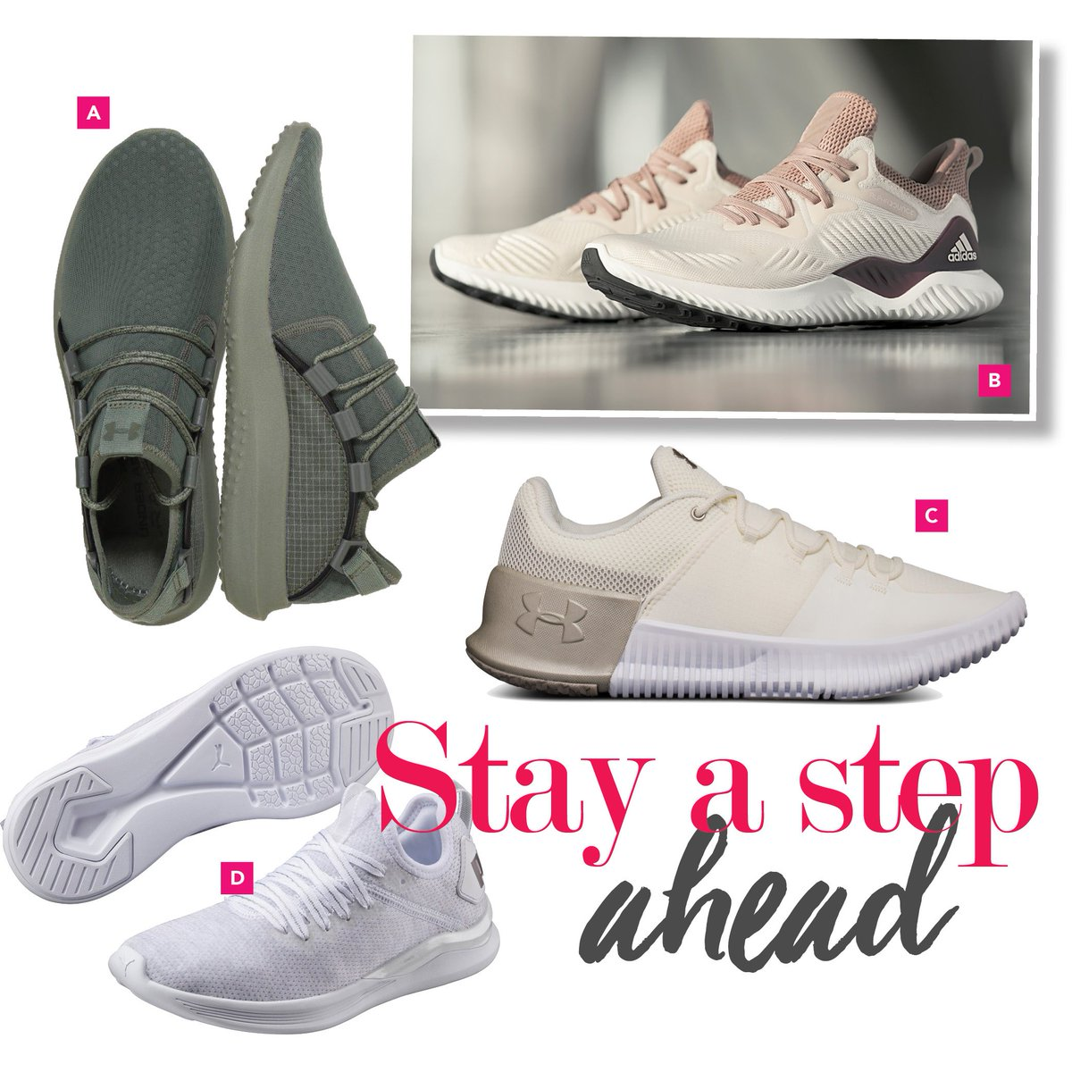 1d171df11 which pair would rock to your next gym session a underarmoursa moss grean  railfit b alphabounce