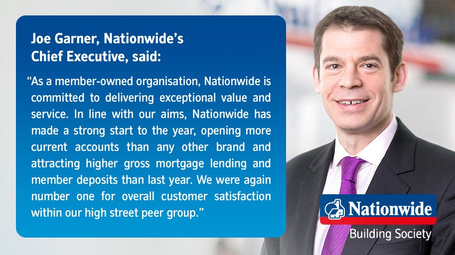 Nationwide Q1: Chief Executive Joe Garner comments on strong first quarter: nationwide.co.uk/-/media/MainSi…