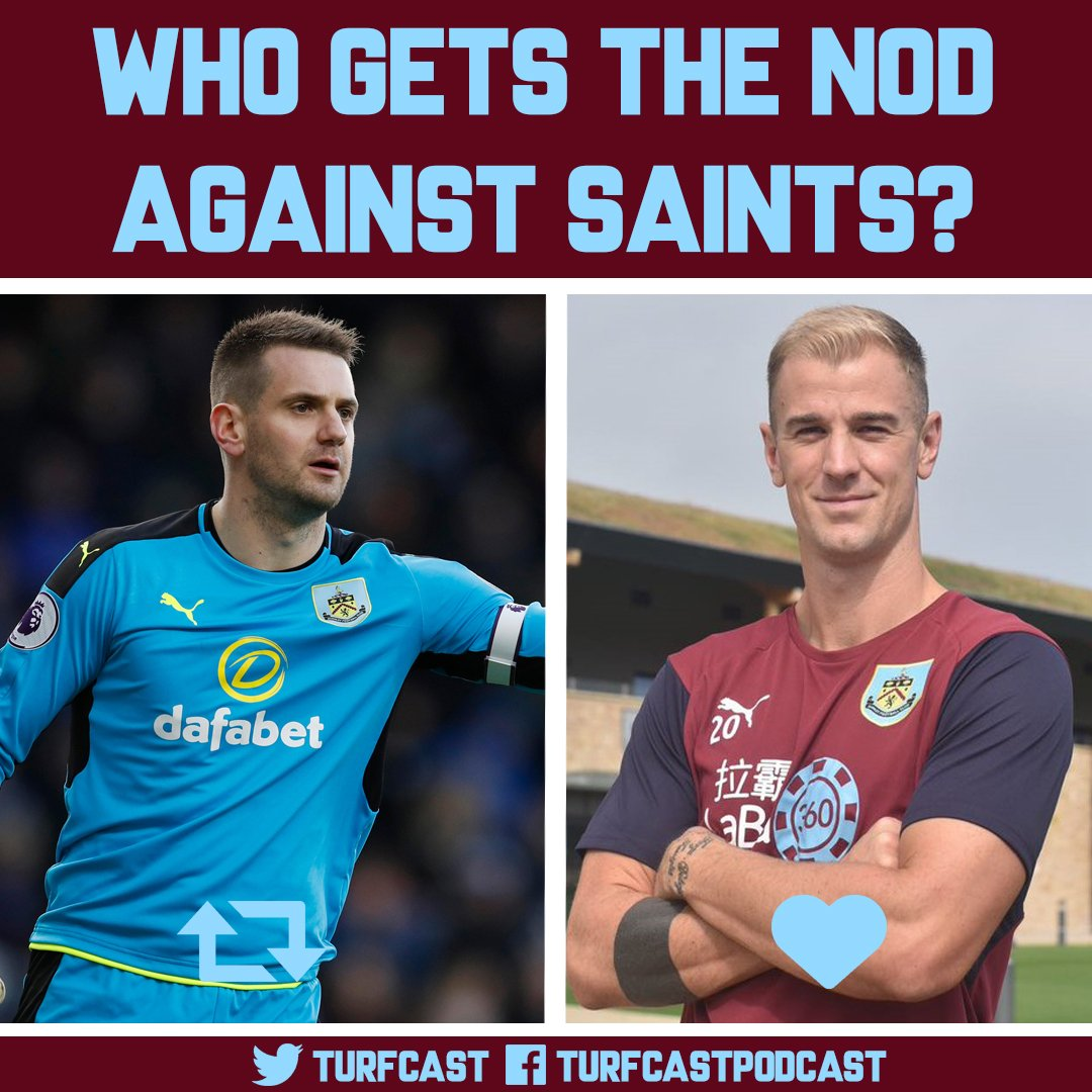 Which goalkeeper should Burnley start with at St Mary&#39;s against #SaintsFC?  RT: Tom Heaton Like: Joe Hart   #twitterclarets #UTC #BFC<br>http://pic.twitter.com/19YJdzCarv