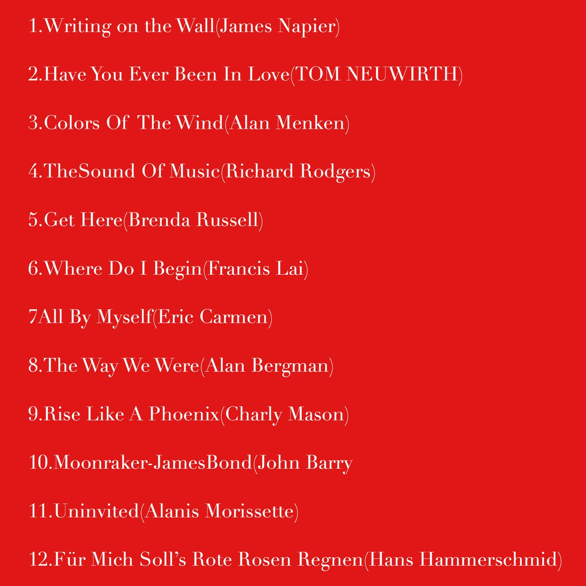 #theunstoppables we KNOW the setlist of #ConchitaWurst 's CD (Oct 20th) with the #WienerSymphoniker #FromViennaWithLove    https://www. wienersymphoniker.at/de/medien/conc hita-vienna-love &nbsp; … <br>http://pic.twitter.com/WxZ3tVF0yE