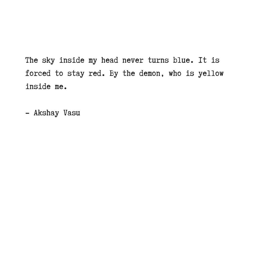 Akshay Vasu On Twitter The Sky Inside My Head Sky Head Demon