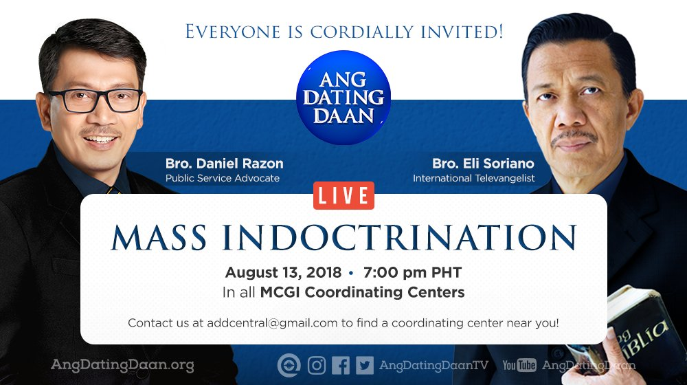 Coordinating centers ang dating daan doctrines