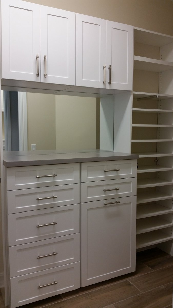 The Closet Doctor Provided Brilliant Clean Lines With Shaker Style  Cabinets, Mirror And Upper Cabinets. Contact The Closet Doctor Today For  Your Free ...