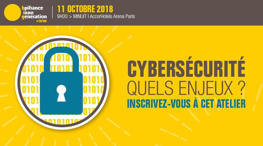 Entrepreneurs ! @Bpifrance #InnoGeneration revient pour une quatrième édition détonante ! La #cybersecurite vous intéresse ? Alors n\