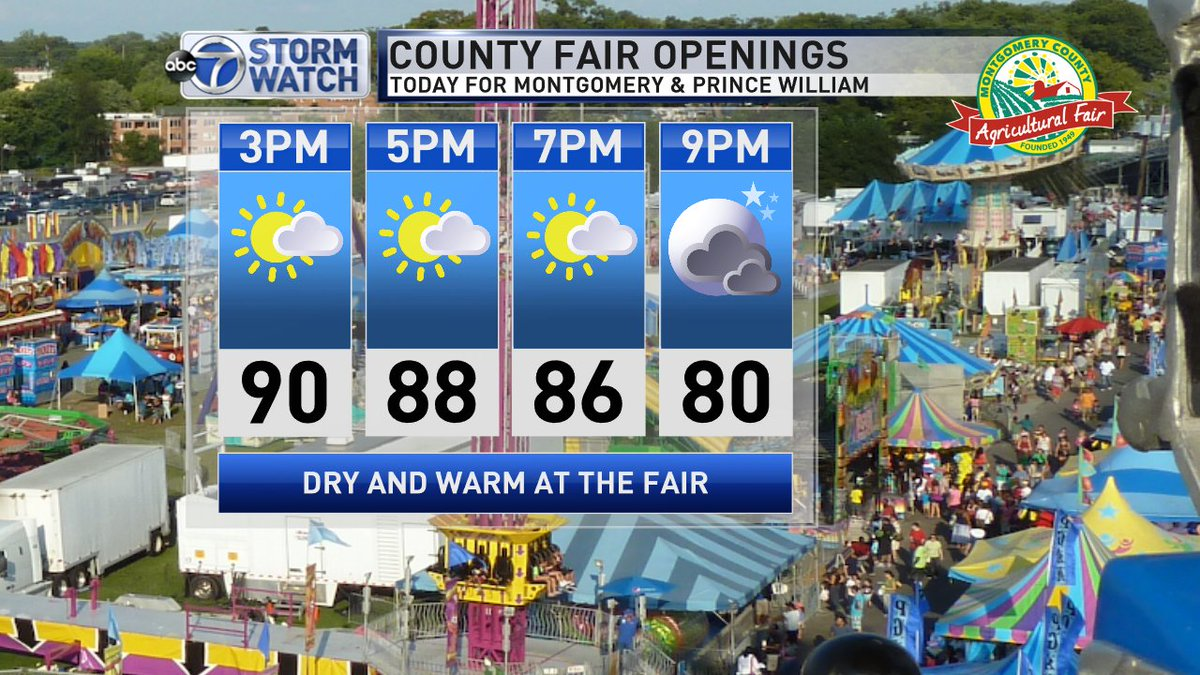 Pretty Nice Fair Weather Today For The Mocofair And Prince William County Fair Itll Be But Should Be Dry This Afternoon Better Chance For Rain This