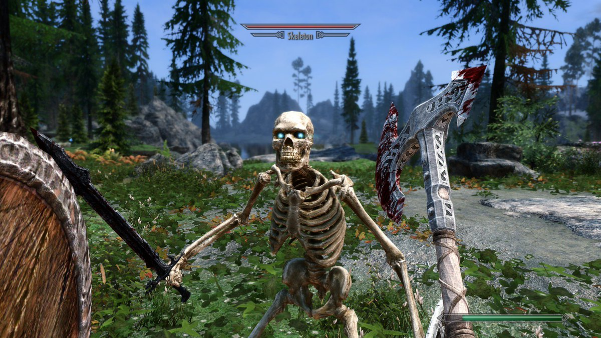 """Felipe Pepe on Twitter: """"Requiem doesn't work on Skyrim Special Edition, so  I'm using a mix of several combat mods: Wildcat, Ultimate Combat, Skyrim  Revamped, Immersive Movement, Mortal Enemies and True Armor."""