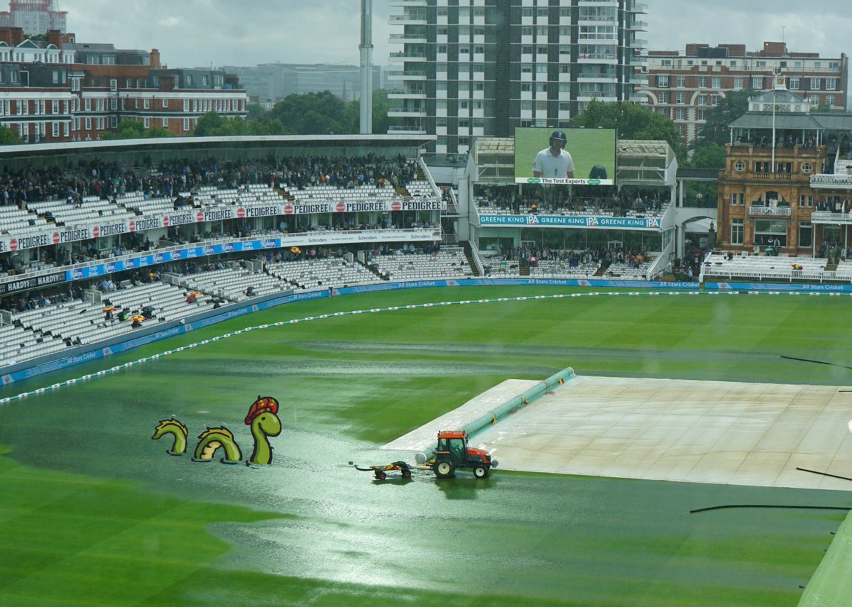 Unexpected visitor at Lord's this afternoon...