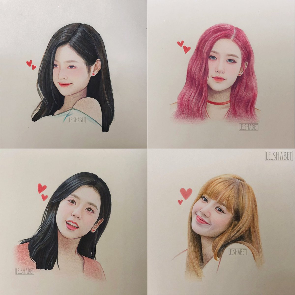 My Blackpink fan art collection part 2, which is your fav ?#blackpink  #블랙핑크 #blackpinkfanart #lisa #rosé⁠ ⁠ #jennie #jisoo
