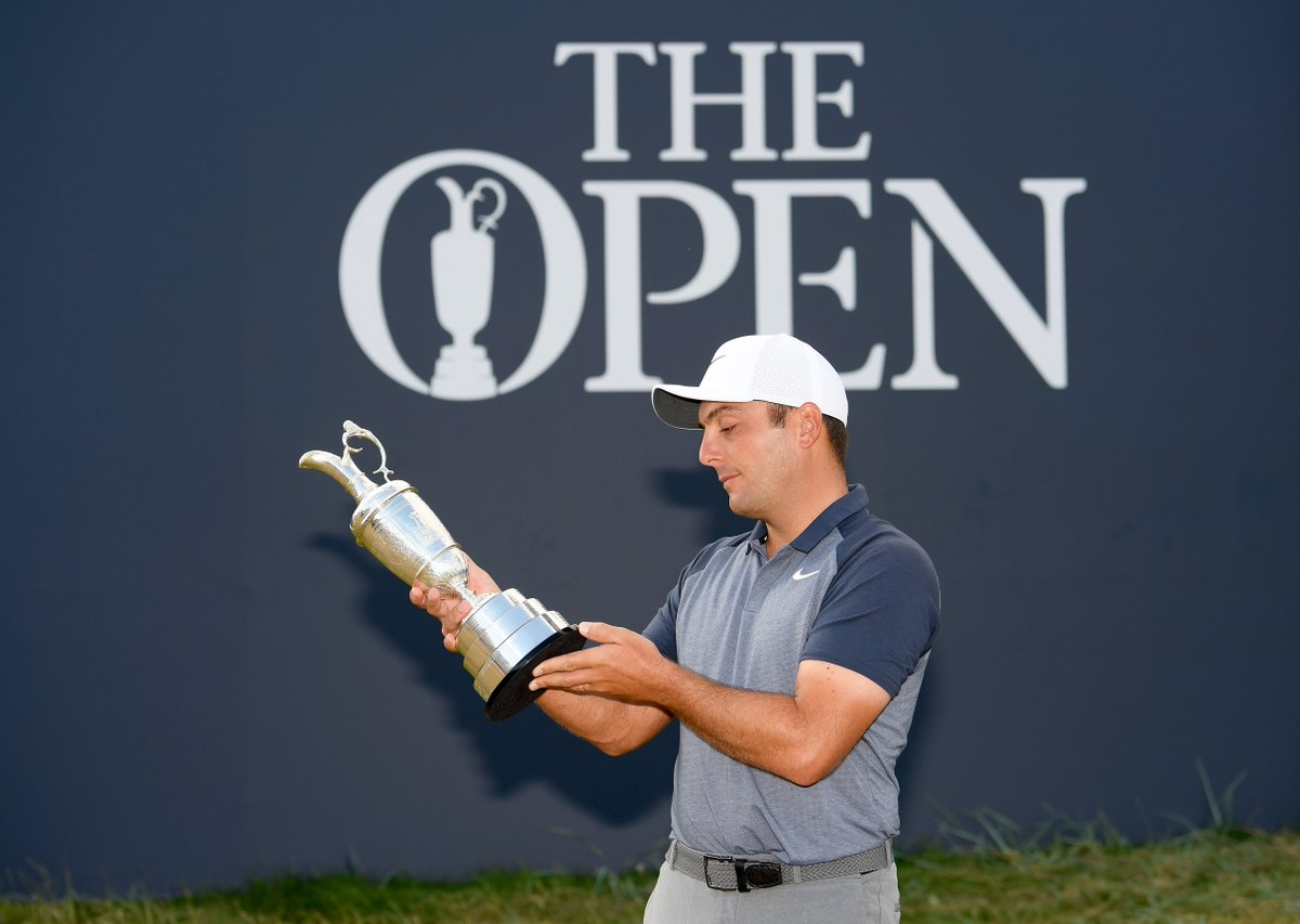 Find someone who looks at you the way @F_Molinari looks at the Claret Jug 😍 #TheOpen