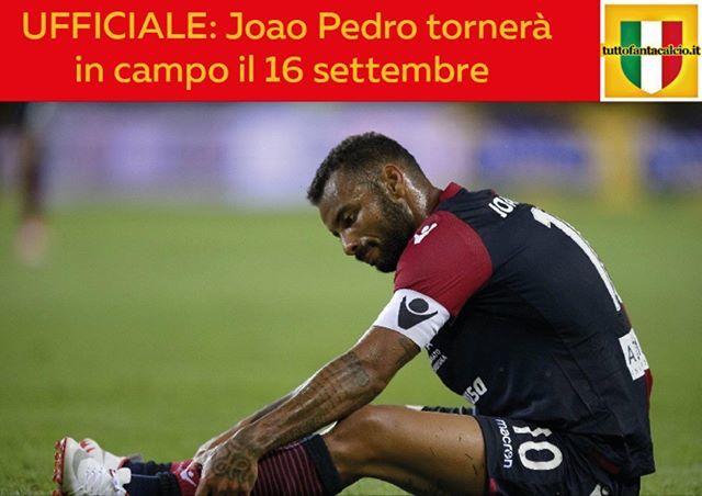 UFFICIALE: Joao Pedro tornerà in campo il 16 settembre. Punterete su di lui?#joaopedro #cagliari #news https://ift.tt/2vFkHIr  - Ukustom