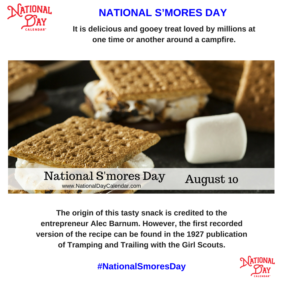 With the many variations found today in the making of these traditional campfire treats on #NationalSmoresDay everyone is sure to find a way to make some the love. So get to the store, buy what you need and make s&#39;more tonight!   http:// ow.ly/5Xhh30lj2EM  &nbsp;  <br>http://pic.twitter.com/6opdL2vdmZ