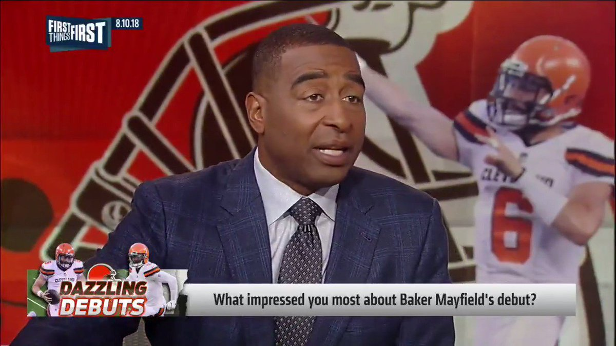 First Things First's photo on Baker Mayfield