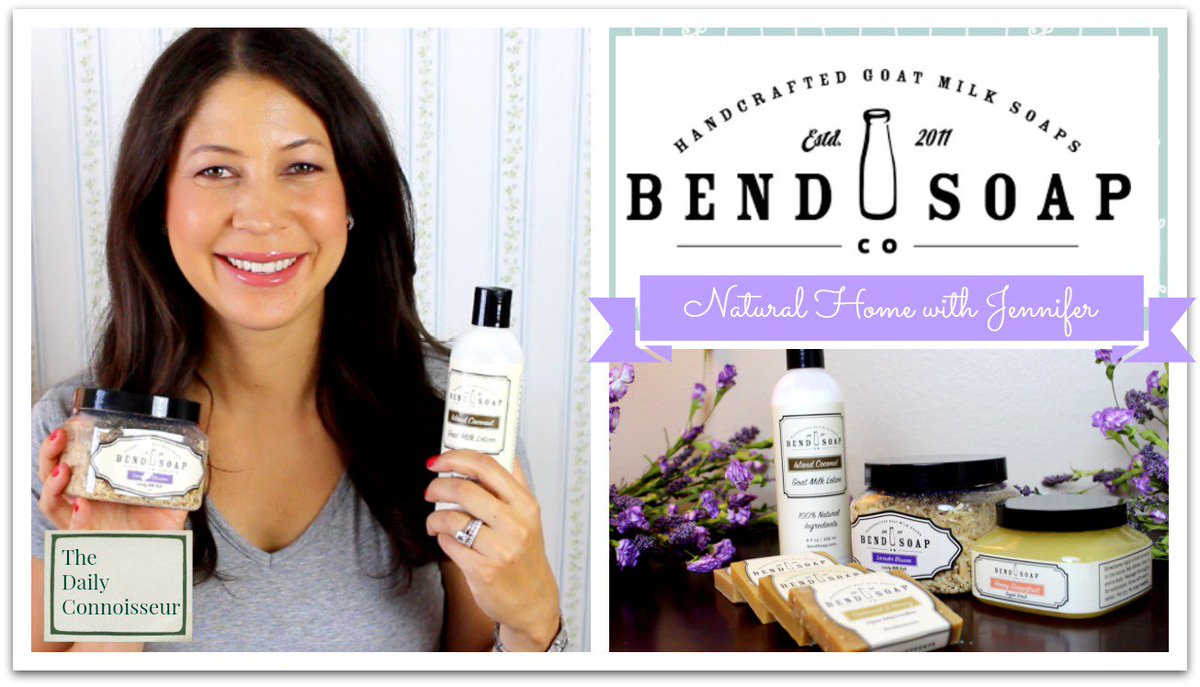 I'm reviewing the lovely @BendSoapCompany 's all natural goat milk soap & beauty products in today's #naturalhomewithJennifer #dailyconnoisseur https://t.co/6c8ECwxKII https://t.co/jZ4dvnmMXH