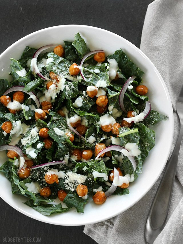 Please RT! #recipes #food Kale Salad with Cajun Spiced Chickpeas and Buttermilk Dressing https://t.co/vfGQj9oziG https://t.co/Jz4WFECLcn